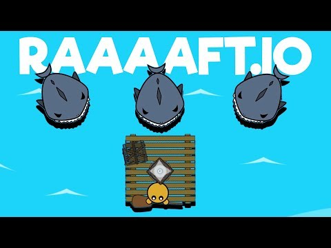 BUILDING A NEW RAFT And  EPIC SHARK ATTACKS! - Raaaaft.io Game - New Io Game!
