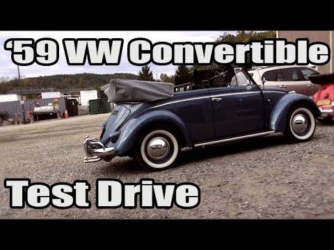 Classic VW BuGs 1959 Volkswagen Beetle Convertible 40hp Big Bore Test Drive