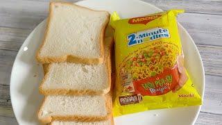 5 Minutes Instant Snacks Recipe|Quick & Easy Evening Snacks|Crispy & Tasty Bread Snacks|Maggi Recipe