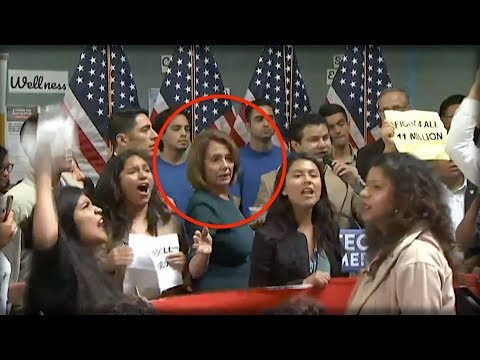 ILLEGAL ALIENS CRASH NANCY PELOSI'S PRESS CONFERENCE, SUDDENLY ALL HELL BREAKS LOOSE