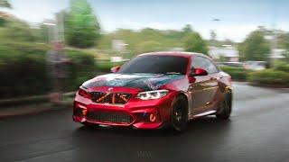 Cars Leaving A Car Show - Slippery When Wet (MpireUK meet 2020)