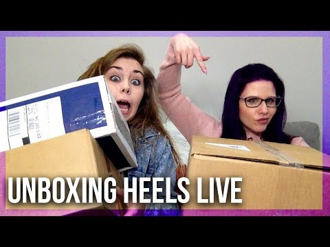 Unboxing New Shoes - Live With Courtney and Michelle