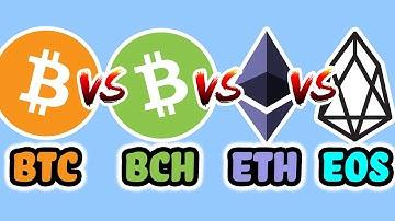 🔵 Bitcoin vs Bitcoin Cash vs Ethereum vs EOS – Scalable Counterparts – My Portfolio BTC BCH ETH DAPP