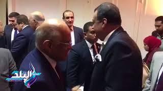 شاهد.. أول لقاء يجمع بين «عبد العال» و«فتحي سرور»