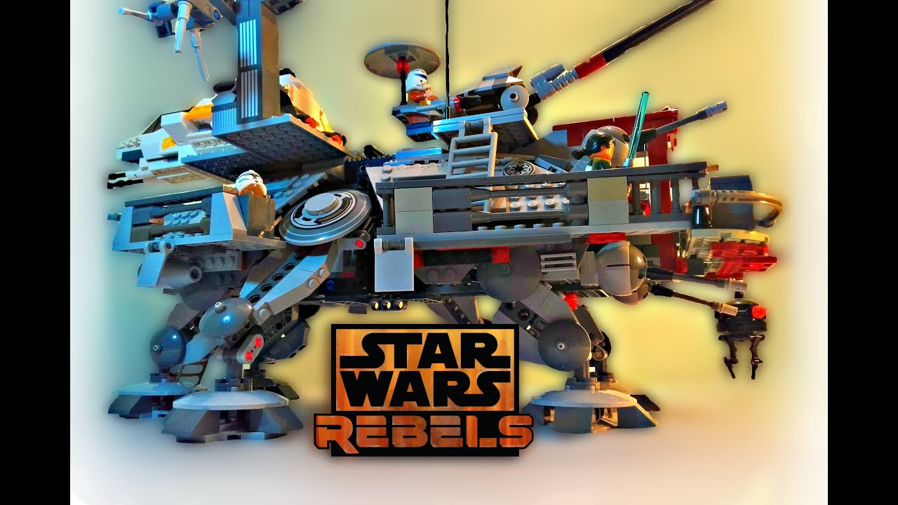 LEGO Star Wars Rebels  Captain Rexs ATTE Walker MOC  Review