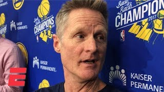 Steve Kerr blames bad lip reading for his comments about Draymond Green | NBA Sound