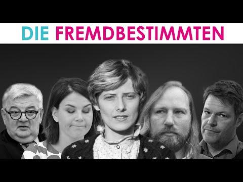 Hässliche Fratze der Grünen: Habeck, Hofreiter, Baerbock, Özdemir heute, Joschka Fischer damals