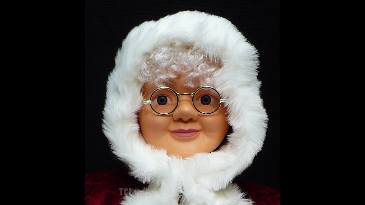 Life size animated mrs santa claus youtube