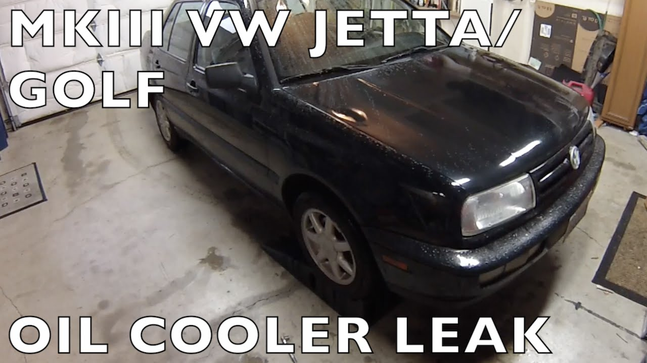 VW Jetta / Golf Oil Cooler Leak MKIII - YouTube
