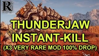 Horizon Zero Dawn - Thunderjaw Instant kill guide (Very Rare Modification Farm)