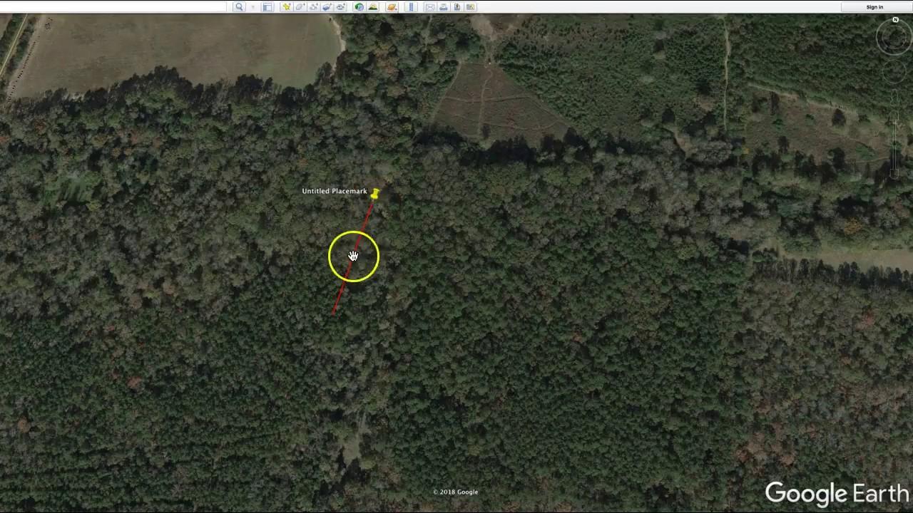 Lynyrd Skynyrd flight path and crash location from Google