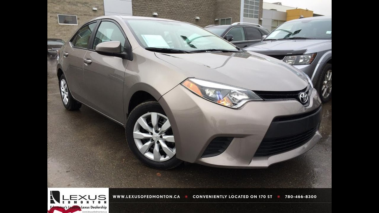 used brown sugar 2014 toyota corolla cvt le review bonnyville