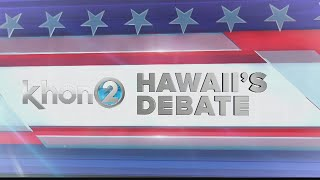 Hawaii's Debate (full hour with governor, lt. governor candidates)
