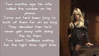 Carrie Underwood - Two Black Cadillacs (LYRICS)