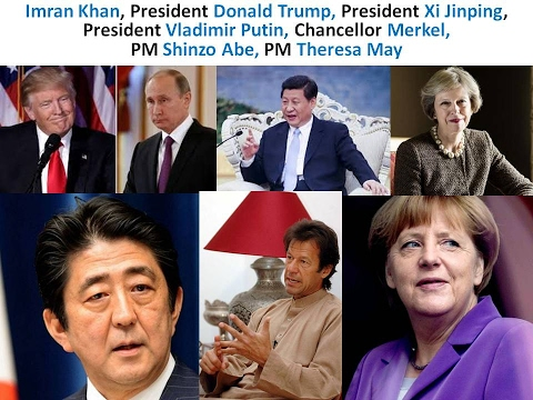 GREAT LEADERS: Imran Khan, Trump, Xi Jinping,  Putin, Merkel, Shinzo Abe, Theresa