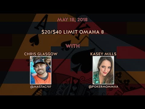 $20/$40 Limit Omaha 8, Special Guest Chris Moneymaker with Kasey and Chris