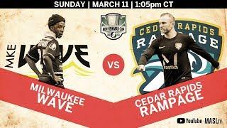 Milwaukee Wave vs Cedar Rapids Rampage