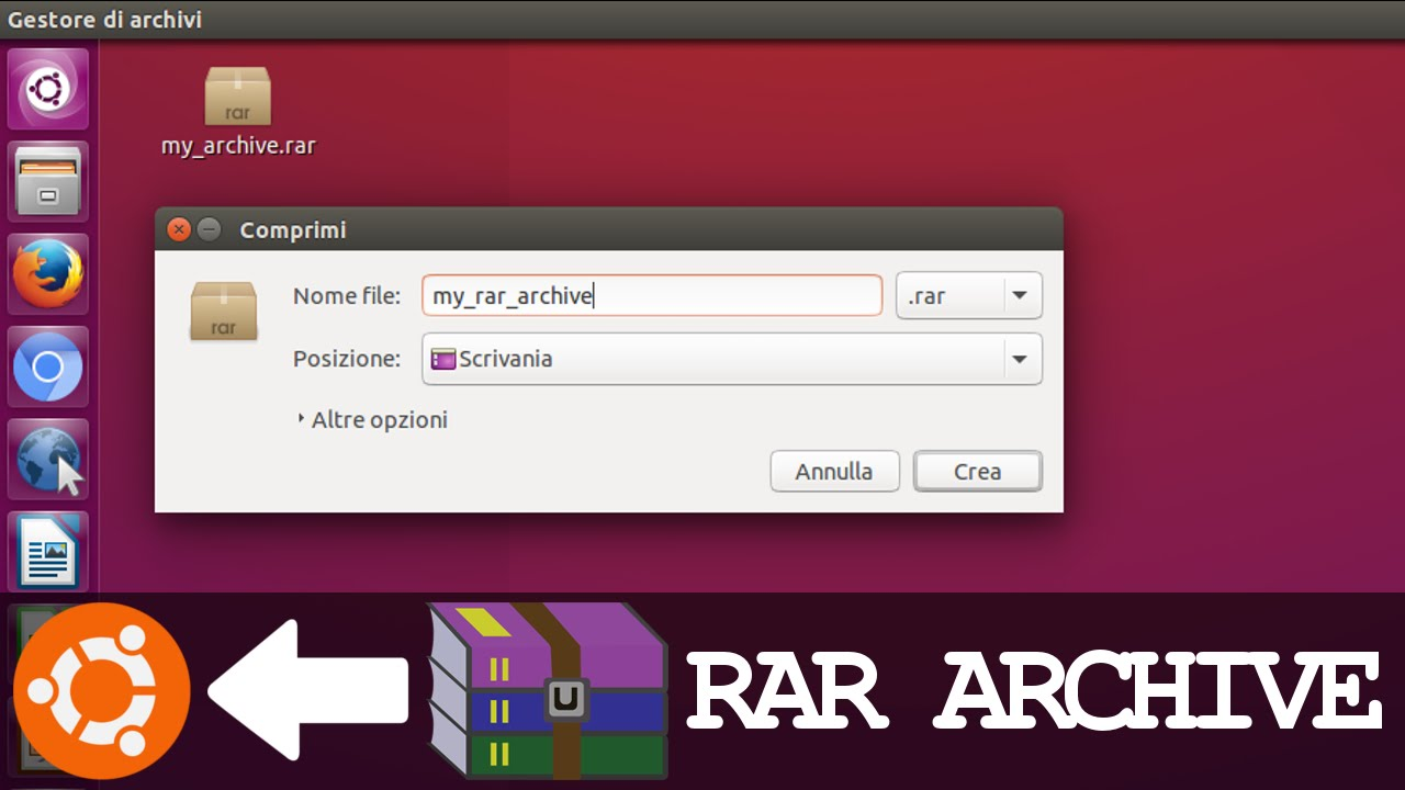 Create and Extract RAR Archives on UBUNTU like WinRar