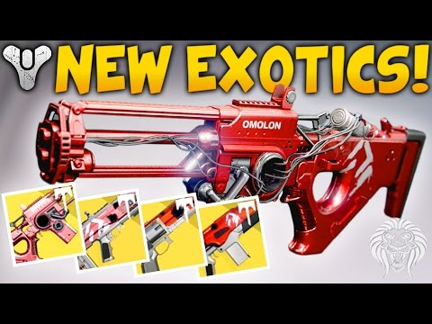 Destiny: NEW EXOTIC RAID WEAPONS! Elemental Primaries From Wrath of the Machine (Age of Triumph)