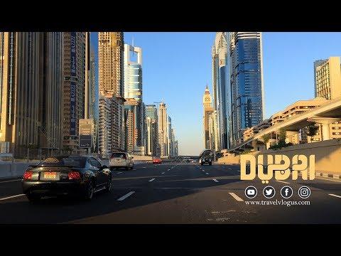 #Dubai Downtown Jabel Ali to World Trade Centre | An evening drive | دبي، الإمارات  #UAE