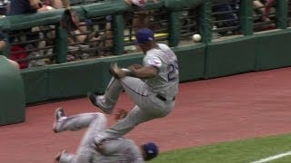 Beltre And Andrus Collide