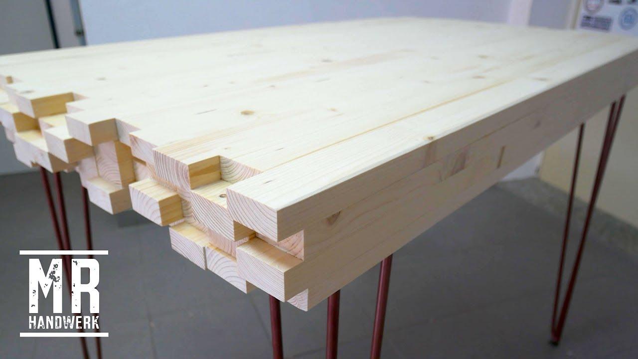 1 2 Designer Tisch Aus Dachlatten Selber Bauen Wie Geht Das