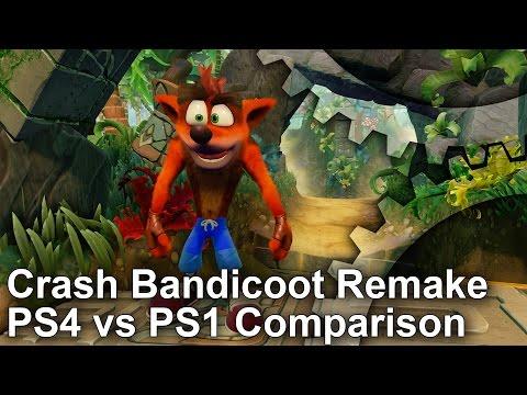 Crash Bandicoot PS4 Remaster vs PS1 Original Comparison