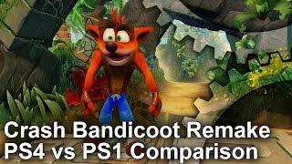 Crash Bandicoot PS4 Remake vs PS1 Graphics Comparison