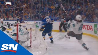 Sharks' Brent Burns Forced Into Horrible Turnover, Allows Ivan Barbashev To Score