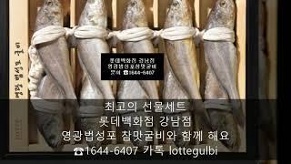 롯데백화점 강남점 영광법성포 참맛굴비 선물세트 카탈록(…