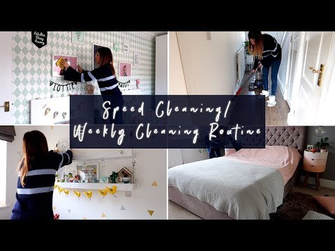 SPEED CLEANING/CLEANING MOTIVATION/WEEKLY CLEANING ROUTINE