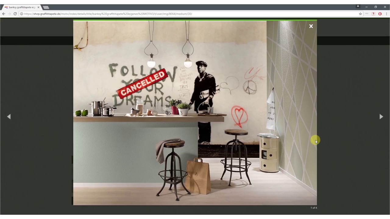 fototapete selbst gestalten graffititapete von banksy co selbst erstellen youtube. Black Bedroom Furniture Sets. Home Design Ideas