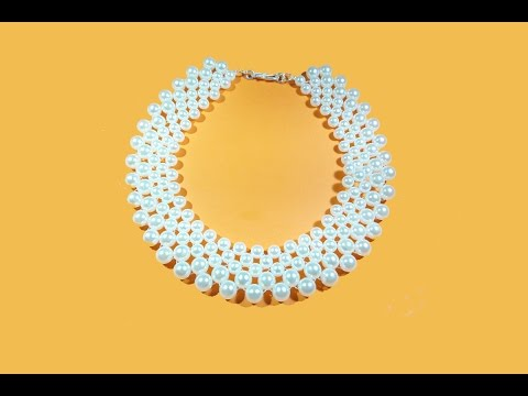 Pearl Necklace Making Tutorial Quick And Easy Make At Home