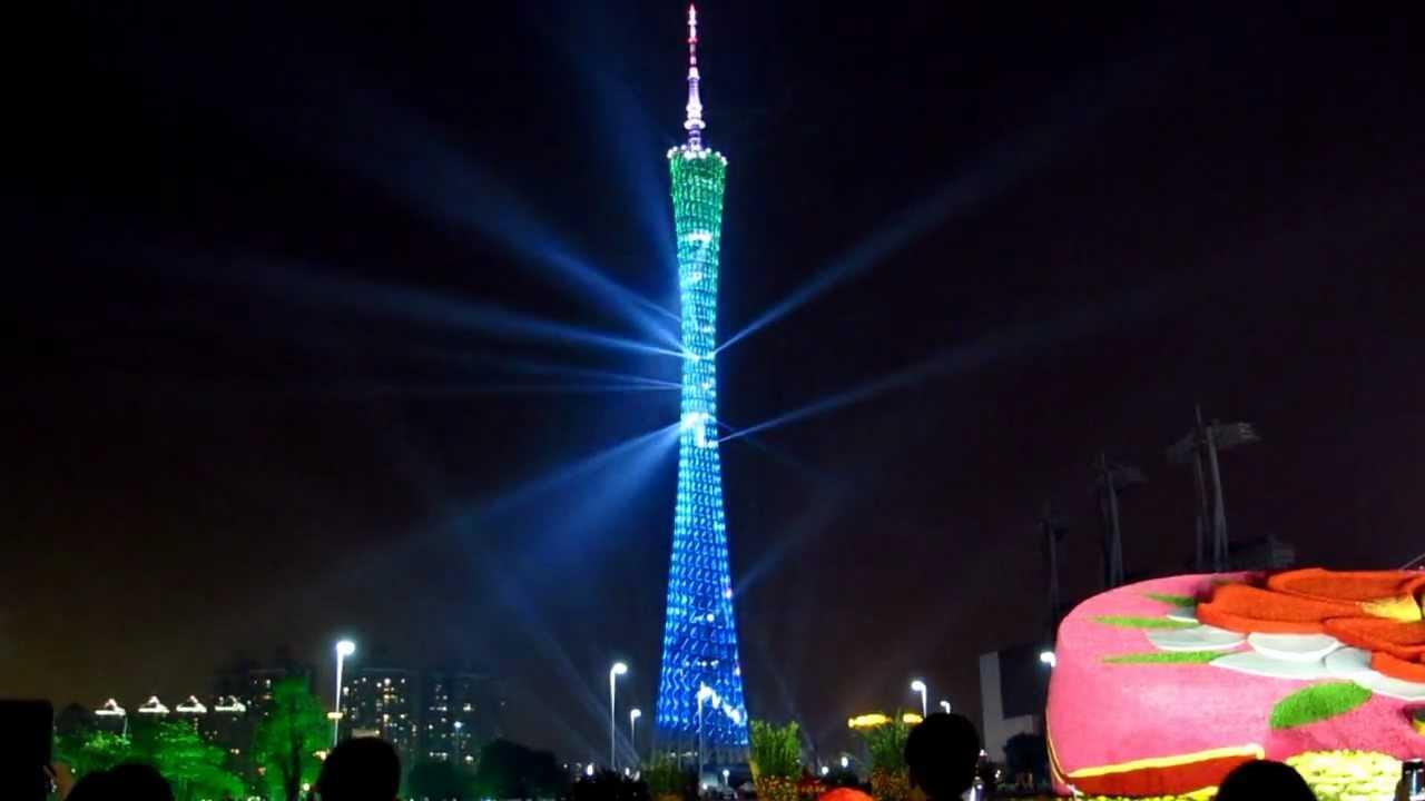 Canton Tower Lights Show Guangzhou 2013 Youtube