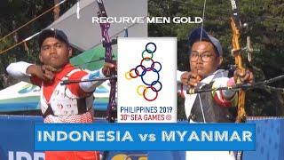 INDONESIA vs MYANMAR  | Gold Final Recurve Men | ARCHERY SEA GAMES 2019
