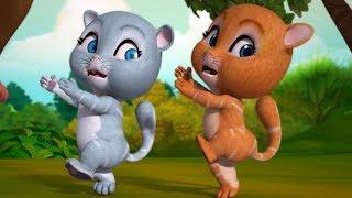 Do Billiyan Aur Ek Bandar | Hindi Rhymes for Children | Infobells