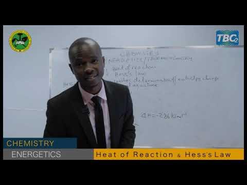 DARASA ONLINE: CHEMISTRY/ENERGETICS (HEAT OF REACTION)