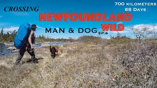 MAN & DOG Crossing the NEWFOUNDLAND Wild: EXTREME Backpacking