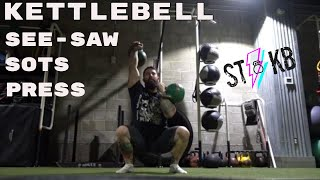 Kettlebell Exercise : See Saw Sots Squat  !