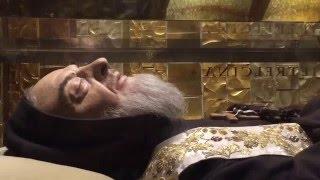Saint Padre Pio body still preserved at San Giovanni Rotondo in Italy