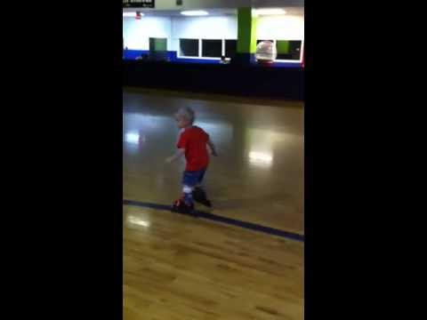 Dylan's roller skating buddy