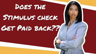 Does the Stimulus Check Have to be paid back