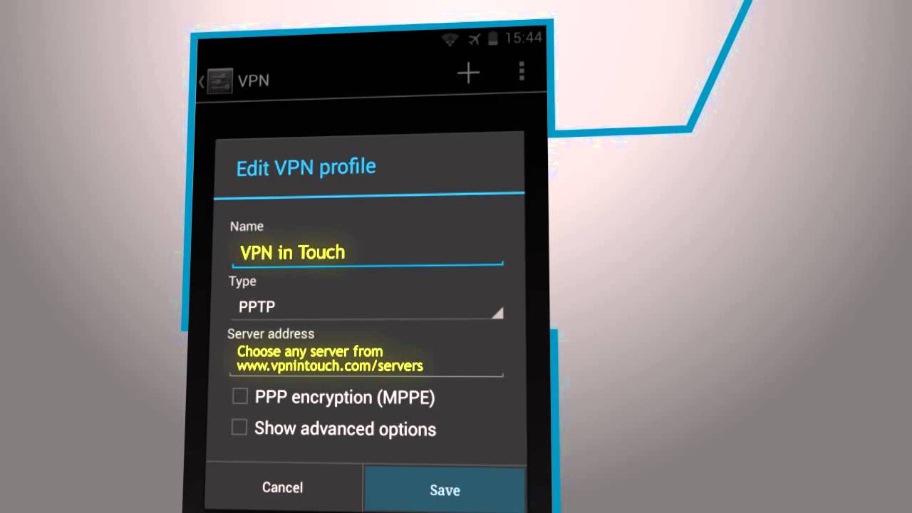 Phone Setup Vpn Android Phone how to setup vpn on android version 4 x pptp youtube pptp