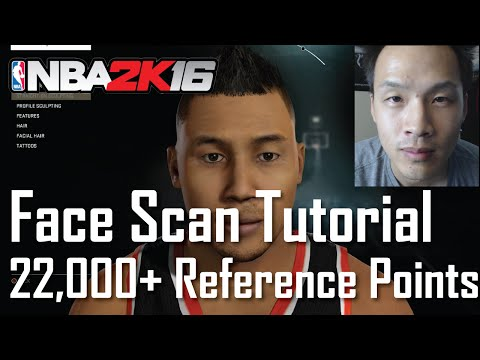 NBA 2K16: Face Scan Tutorial (Get Over 22000 Reference Points)