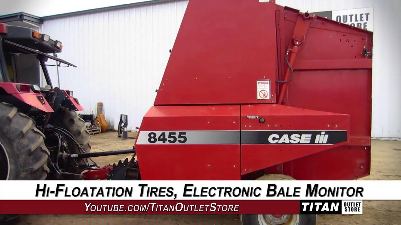 Case IH 8450, 4X6, Belt, Hyd Dbl Wrap Type, Counter Baler-Round Sold on ELS!