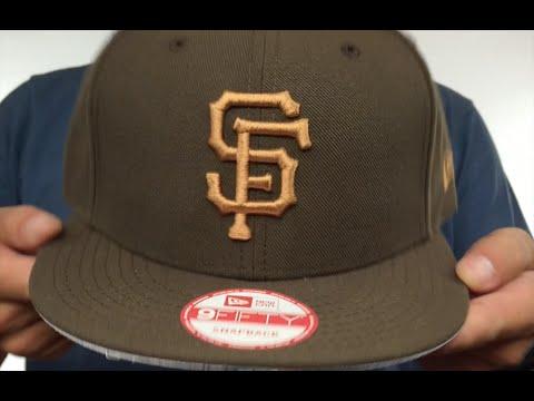 e0bf21ad SF Giants 'TEAM-BASIC SNAPBACK' Brown-Wheat Hat by New Era - YouTube