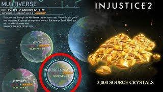 INJUSTICE 2 - FREE 3000 SOURCE CRYSTAL (32 PLAT MB) MULTIVERSE EVENT - 65HRS LEFT!
