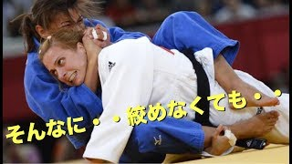 【柔道】女子柔道・そんなに絞めなくても、、と言わんばかりの絞め技の恐怖 【凄技】women's judo choke out