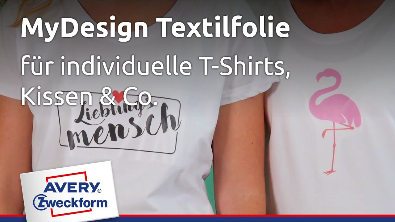 avery zweckform t shirt folie individuelles t shirt. Black Bedroom Furniture Sets. Home Design Ideas