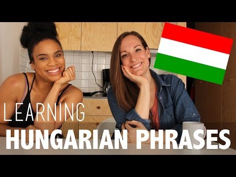 AMERICAN TRIES HUNGARIAN PHRASES | FEATURING HAJNI | LANGUAGE SERIES